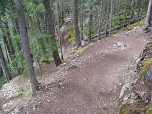 Berg Lake Trail switchbacks