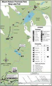 Berg Lake Trail hike map