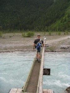 Berg Lake Trail river crossing